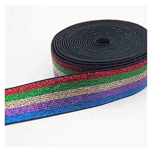 HLWJ Elastic Band 2.5cm Headband Dress Lace Sewing Accessories (Color : REGRBEPUBU)