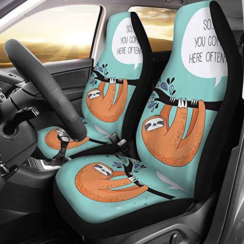 Seat Covers Tierdruck-Auto-Sitzbezug Vordersitz Universell Geeignet for LKW-Auto-Schutz-Autositz (Color : 24, Size : Two-Piece Suit)