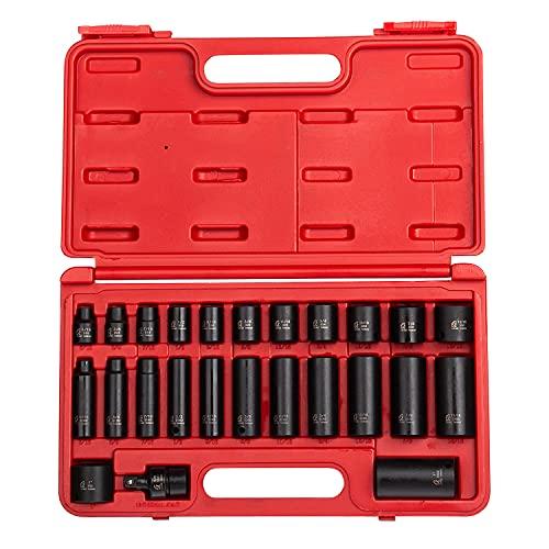 sunex socket wrenches drive socket sets Sunex 3325, 3/8 Inch Drive Master Impact Socket Set, 25-Piece, SAE, 5/16