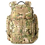 MT Military Medium Rucksack MOLLE Army Tactical Assault Backpack, 3 Day Pack for Camping, Hiking, Bug Out, Multicam Camo
