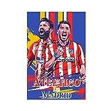 Póster de lona para jugadores de fútbol Atlético de Madrid Strikerd para decoración de dormitorio, deportes, paisaje, oficina, habitación, decoración, regalo de 40 x 60 cm