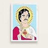baodanla Pablo Escobar Hot Famous Art Painting Vintage Canvas Poster Wall Home Decor50x75cm(Sin Marco)