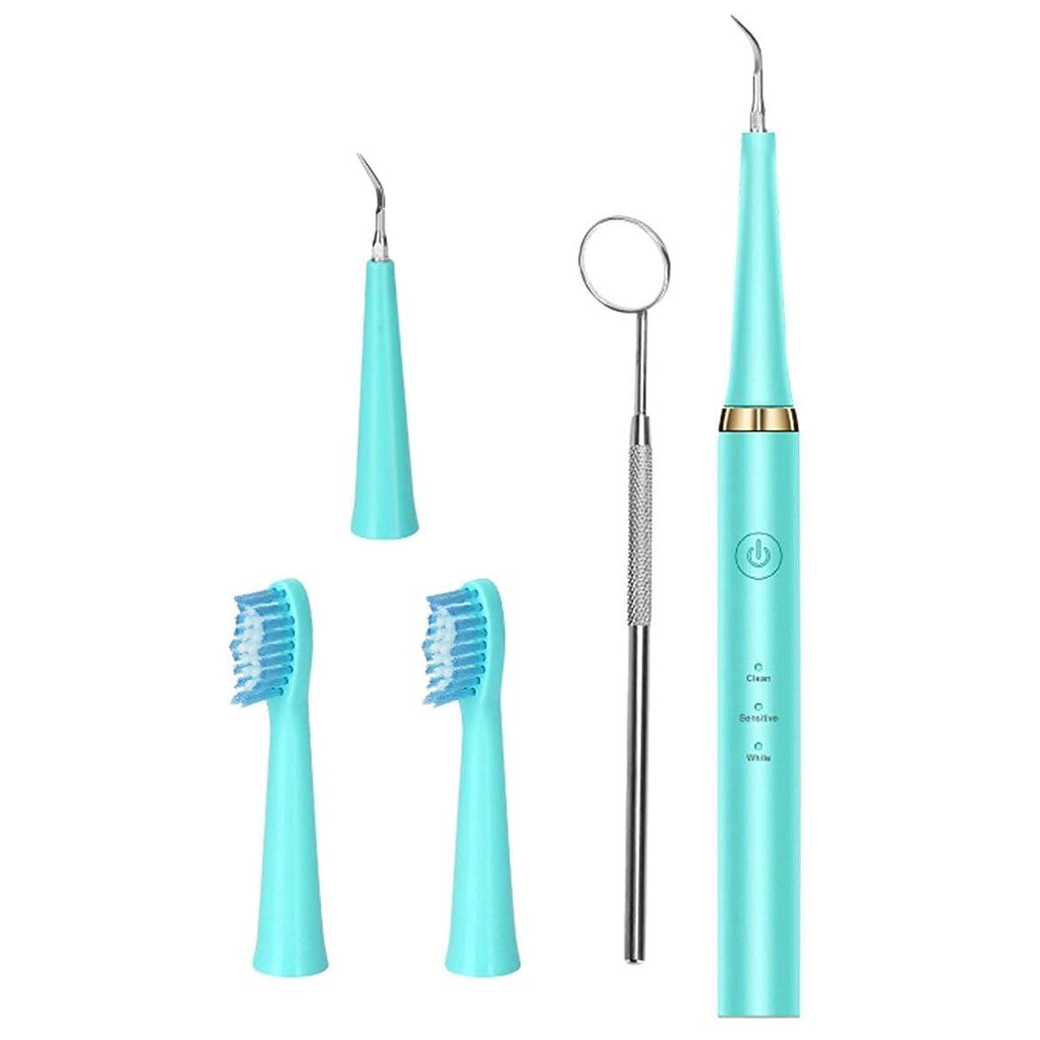 ズームラリー思慮深いIntercorey Tooth Cleaner Red Teeth Calculus Remover Can Change Head Cleaning Teeth Whitening Electric Toothbrush Mouth Mirror