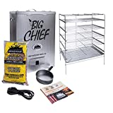 Smokehouse Products Big Chief Top Load Smoker, Silver, 27.06' L x 12.50' H x 18.25' W