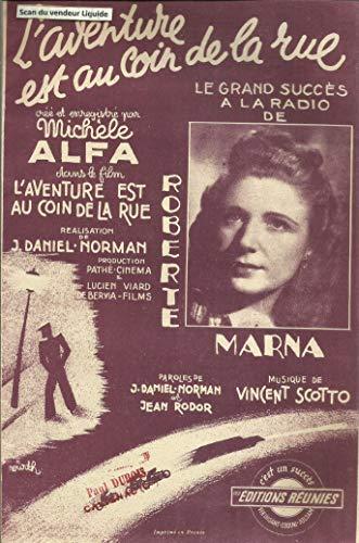L\'aventure est au coin de la rue créé enregistré par Michele Alfa - Grand succès à la radio de Roberte Marna