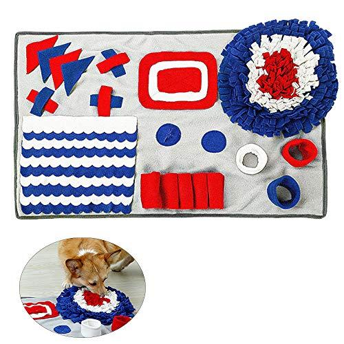 qipuneky Schnüffelteppich Hundespielzeug Riechen Futtermatten Trainieren Matte Waschbar Erziehungshilfen Hunde Interaktives Spielzeug für Haustier Hund