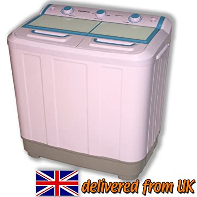 Twin Tub Washing Machine Portable Caravans Mobile Homes Pump Mini Spinner Dryer