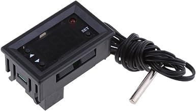 non-brand Sonda Digital de Medidor de Indicador de Temperatura de Hogar Higrómetro de Termómetro - Negro-12V