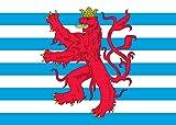 DIPLOMAT Flagge Civil Ensign of Luxembourg   Querformat Fahne   0.06m²   20x30cm für Flags Autofahnen