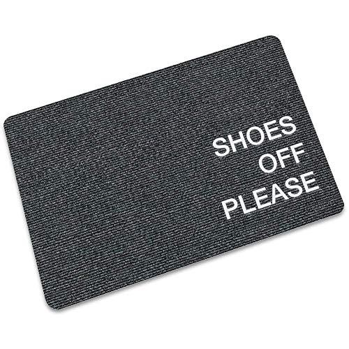 Maplehome deurmat binnen- en buitenkeuken anti-slip vloermat -zwarte schoenen uit gelieve deurmat binnenshuis rubberen mat 15.7x23.6 inch