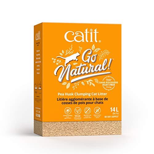 Catit Go Natural! Arena Guisantes, Aroma Vainilla 2 X 7 L (14 L) 6000 g