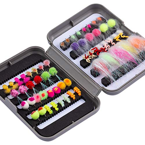 Bassdash Fly Fishing Flies Kit Fly Assortment Trout Bass Fishing with...