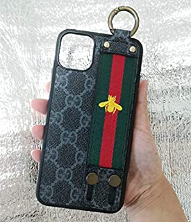Case for iPhone 11 Pro, Classical Elegant TPU Leather Street Fashion Slim Fit Monogram Case with Belt Stander Vintage Luxury iPhone 11 Pro Case