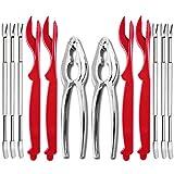 Delaspe Frutti di Mare Strumenti 12Pcs Granchio Crostacei Aragosta Gamba Sheller Forks Set...