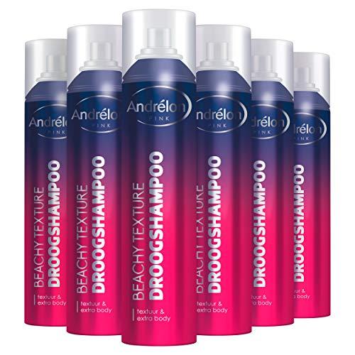 Andrélon Pink Droogshampoo Voordeelverpakking Beachy Texture 6 x 250 ml