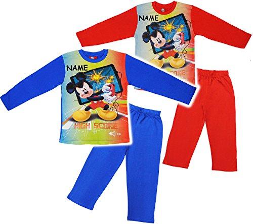 alles-meine.de GmbH alles-meine.de GmbH 2 TLG. Set _ Schlafanzug / Hausanzug / Pyjama - Disney Mickey Maus / Mouse - incl. Name - Größe: 2 Jahre - Gr. 92 - Langer Trainingsanzug / Sportanzug LAN..