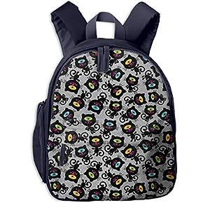 Bolsa La Escuela Mochila con Cabeza de Ojo de Formas Impermeable Mochilas para Niños Niñas