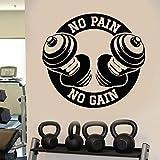 mgrlhm Fitness schmerzlos Gewichtheben Fitness Übung Wandkunst Aufkleber Sport Bild 62 * 57cm