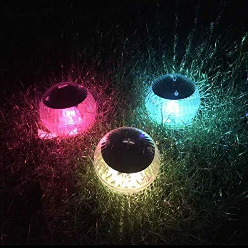 Luces solares al aire libre, luces esféricas flotantes, luces solares para jardín, luces de paisaje impermeables para estanque, piscina, festivales, luces decorativas (1 pieza)