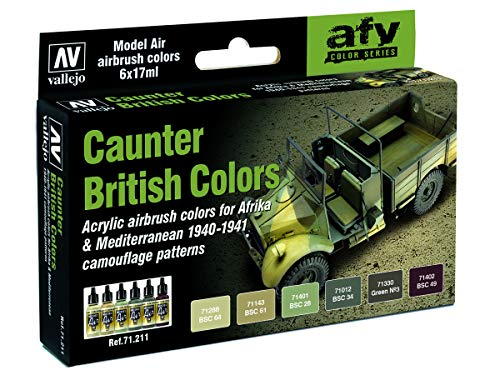 Vallejo Model Air AFV Set 71211 British Caunter Colors (6)