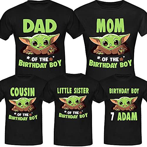 Personalised Baby Y.o.d.a Birthday Tee, Birthday Boy, Custom Birthday Shirt, Custom Age Shirt - Birthday Gifts, Birthday Family Shirt Long Sweatshirt Hoodie Black