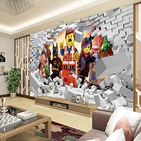 3D Lego Tapete Für Wände Wandbild Cartoon Tapete Kinder Schlafzimmer Room Decor Tv Hintergrund Wandverkleidung Fototapete 200 * 140 Cm