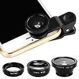 Fullfun Macro Phone Camera Lens Magnifier for Digital Camera, Mobile Phone, Tablet (Black)