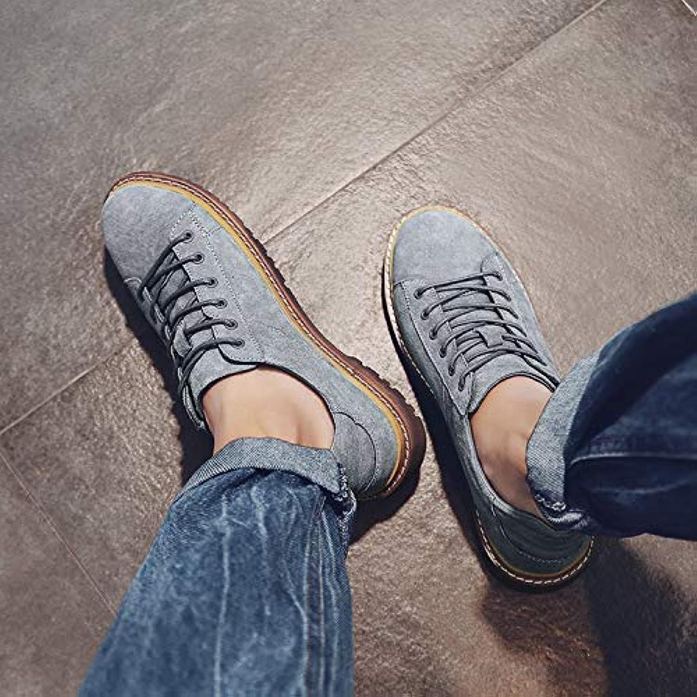 LOVDRAM Men'S shoes Martin shoes Men'S Autumn Tooling shoes Retro shoes Big shoes Fashion Men'S shoes