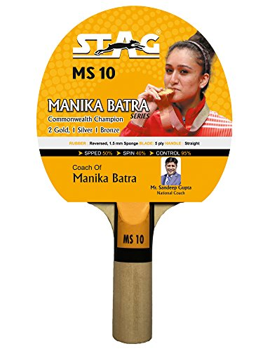 Stag Manika Batra MS-10 Table Tennis Racquet( Multi- Color, 186 grams, Beginner )