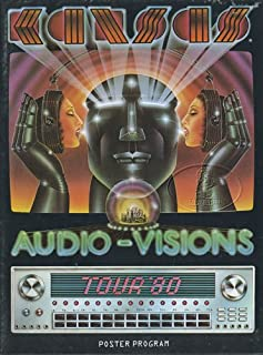 Kansas 1980 Audio-Visions Tour Concert Program Poster Programme