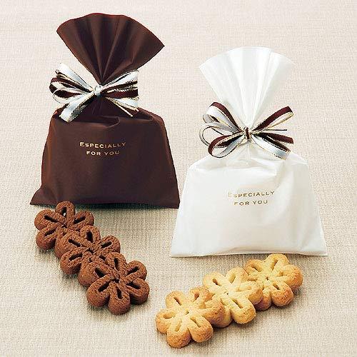 プチギフト お菓子 退職 バレンタイン 義理 チョコ 結婚式『エスペシャリー 花のクッキー』大量 業務用 挨拶お礼 歓迎会 ウェルカムギフト 個包装 かわいい (60個セット)
