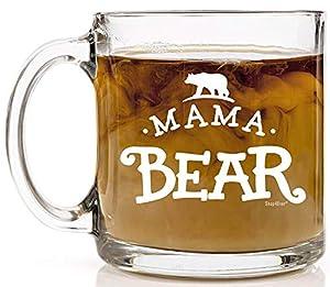 Shop4Ever Mama Bear Novelty Glass Coffee Mug Tea Cup Gift ~ Mother's Day ~