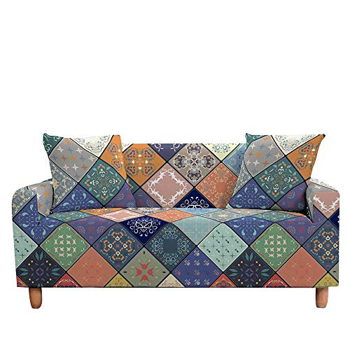 ASCV Funda de sofá Mandala Digital 3D Funda de sofá elástica Antideslizante Funda Protectora Funda de sofá elástica Suave para Sala de Estar A3 2 plazas