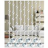 Cortinas con cuentas para puertas Cristales, Cortinas con cuentas Cristal Panel de cuentas de cristal Armario Separador de habitaciones Panel colgante Decorativo Personalizable-A-30strands-80x180cm
