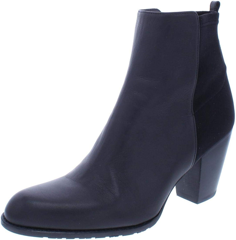 Stuart Weitzman Womens Nuotherhalf Leather Block Heel Booties