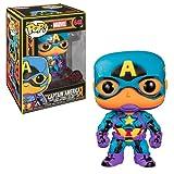 Funko- Pop Marvel Black Light Captain America Juguete coleccionable, Multicolor (48845)