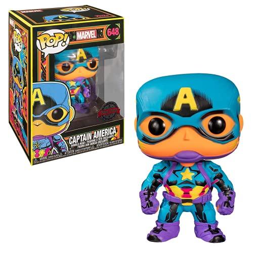 Funko POP Marvel: Black Light - Captain America Giocatollo, Multicolore, 48845