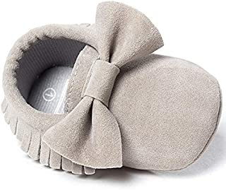 Infant Baby Girls and Boys Premium Soft Sole Moccasins Tassels Prewalker Anti-Slip Toddler Shoes