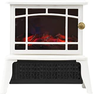 Electric Wood Stove Fireplace Heater, Portable Indoor Space Room Fuel Effect Realistic Flame Three-Speed Temperature Regul...