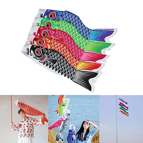 pittospwer Bunte japanische Art-Karpfen-Ausläufer-Windsack-Fisch-Flaggen-Ausgangsparty-Dekoration