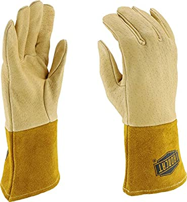 IRONCAT 6021 Premium Top Grain Pigskin Leather MIG Welding Gloves, 1 Pair