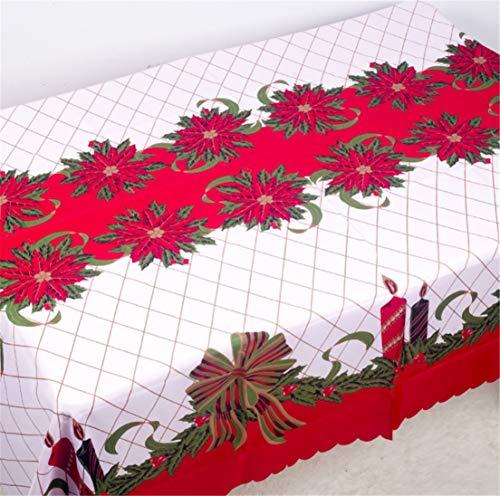 PUBMIND - Mantel de Navidad con diseño de Campana, 177,8 x 152,4 cm, Rectangular, decoración navideña