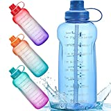 Half Gallon/64 oz Motivational Water Bottle with Time...