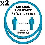 Señal control de aforo clientes para tiendas   Máximo...