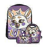 FNaF Lolbit mochila escolar para niñas 3 en 1 lindo juego de librería ligero para niños preescolares