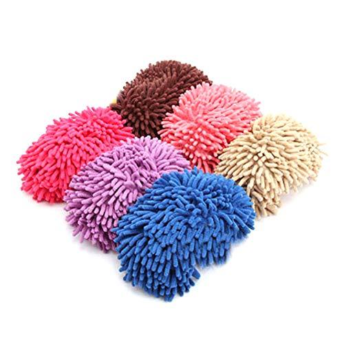 VORCOOL Mikrofaser Hausschuhe Weich Waschbar Wiederverwendbare Mikrofaser Fußsocken Hausschuhe Schuhe für Badezimmer Büro Küche Hausreinigung Rosig