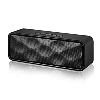 Wireless Bluetooth Speaker,Portable V4.2+EDR Speaker with HD Audio and Bass 12-Hour Playtime Bluetooth 4.2 TF Card Slot Aux Input,Built-in Mic,FM Radio Perfect for iPhone Samsung and More black