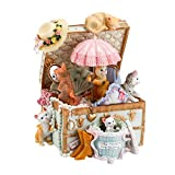 Mr.Winder Cat Music Box Cute Resin Kitty Musical Box Romantic Anniversary Birthday Gift for Girlfriend Children on Christmas/Birthday/Valentine's Day Castle in The Sky