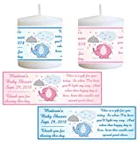 28 ELEPHANT BABY SHOWER FAVORS PERSONALIZED VOTIVE CANDLE LABELS