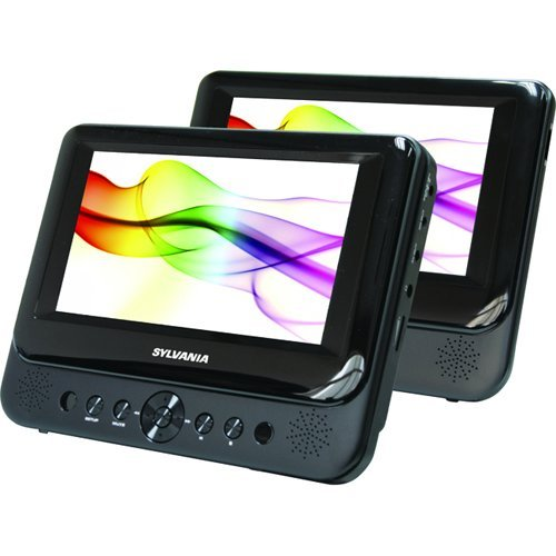 Lowest Price! Sylvania SDVD8706 7 Dual Screen Portable DVD Player (Certified Refurbished)